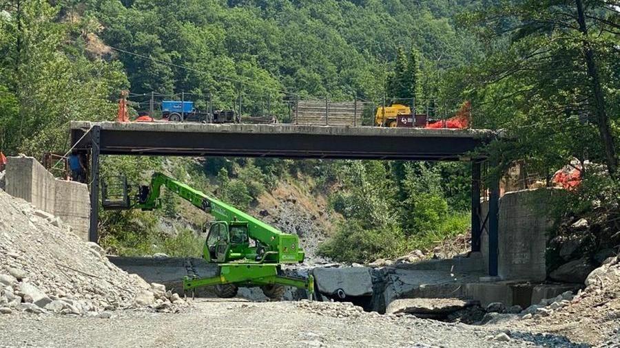 Synchronized lifting of the Piota Bridge